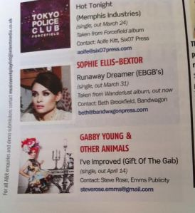 Gabby Young - Music Week Playlist