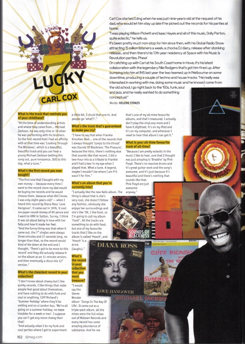 Carl Cox in this month's DJ Magazine