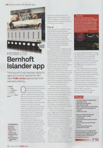 Bernhoft - Music Tech Magazine (October Issue 2014) - Islander App Review