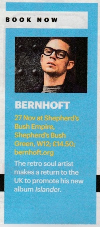 Bernhoft - Shortlist Magazine (Issue 345) - Book Now Feature
