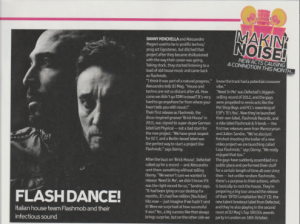 Flashmob - DJ Mag (UK, October Issue 2014) - Comin' Up Piece